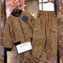 vestidos da marca do céu Desconto céu New Boys And Girls Suit Marca Fatos Hot Venda Moda Primavera Outono Vestidos Crianças manga comprida Set 0919