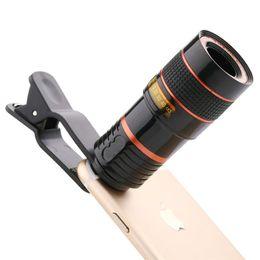 İÇİN SICAK Evrensel 12X telefoto cep telefonu mercek odaklama zoom teleskop kafa harici HD kamera 12 kez objektif: iphone Samsung nereden samsung için zoom lens tedarikçiler