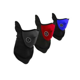 neoprene face neck mask Coupons - Warm Fleece Ski Bicycle Half Face Mask Winter Outdoor Sport Windproof Neck Guard Scarf Headwear Neoprene Masks Winter Mask Men