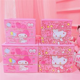 IVYYE 1PCS Pink Melody KT Fashion Anime Cosmetic Bags Home Makeup Bag Beauty Case Storage Box Pouch Toiletry Girls Nuevo desde fabricantes