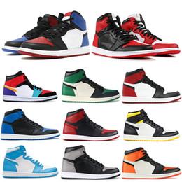 2019 scarpe da basket melo Nike Air Jordan retro Chicago Banned 1 OG Scarpe da pallacanestro uomo Punta nera Shadow Top 3 Scarpe da uomo firmate Melo Storm Baroni blu Sneakers uomo Sneakers 7-13 scarpe da basket melo economici