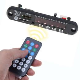 2019 плата mp3-детектора bluetooth mp3 Bluetooth Автомобильный MP3-Плеер FM Приемник Mp3 Декодер Плата DIY Модуль Динамика Поддержка 3.5 мм AUX TF Карта USB FM Радио Аудио Адаптер дешево плата mp3-детектора bluetooth mp3