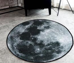 tables d'étude Promotion Tapis de table basse de salon de tapis rond d'étude de lune Creative
