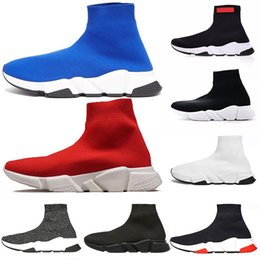 Off meias pretas on-line-balenciaga designer de velocidade formador marca de moda homens de luxo mulheres meias sapatos preto triplos oreo azul branco plana mens esporte runner sneaker off 36-45