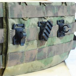 montaje de 25mm Rebajas Caza táctica 3 tipo Molle Adaptador de chaleco para 25 mm Correas multiusos Montaje en carril Tubo Clip