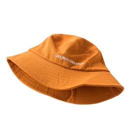 6a22392c Sun Hats Floppy Foldable Bucket Hat Fisherman Hat Women Beach Summer Letter  Embroidery Cap Wild Travel Casual Visor Basin Caps