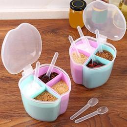 45 # Multi Griglie grande capacità di Apple Forma condimento bottiglia Storage Box Organizzatore casa utensile da cucina da