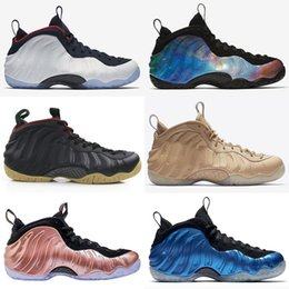 reputable site 2b28a c2564 Sequoia Black Metallic Gold Penny Hardaway Men Basketball Shoes foam one  Alternate Galaxy 1.0 2.0 OG Royal Olympic Sports Sneakers 40-47