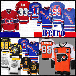 sweatshirt new york rangers xxl Promotion Eric Lindros Philadelphia Flyers mens Hockey Jersey Brian Leetch Rangers de New York Mark Messier Wayne Gretzky des Canadiens de Montréal Patrick Roy
