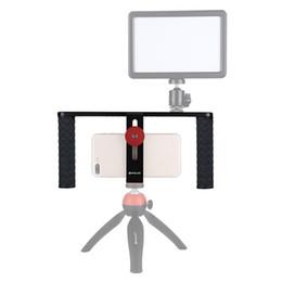 steadicam iphone Rebajas PULUZ HandheldRig Filmmaking Making Rig Stabilizer / Steadicam Bracket Holder Cradle Phone Clip para iPhone, Smartphones Video Rig
