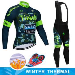 2019 saxo tinkoff велоспорт джерси 2019 Майо Ropa Ciclismo Invierno Тинькофф зима задействуя Джерси термальной ватки с длинным рукавом задействуя одежда Set MTB велосипед Wear
