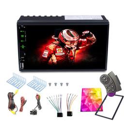 2019 video hindi mp4 2 Stereo Din Auto, 7 pollici HD stampa dello schermo Supporto Bluetooth Handsfree Backup Rear View Camera, Specchio Link, ID chiamante, aggiornare il dvd auto