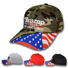 2019 3d stickerei hüte 4 Farben Trump Baseball Cap 2020 halten Amerika wieder groß Hüte Trump Donald 3D Stickerei Brief einstellbar Sport Baseball Cap EEA285 rabatt 3d stickerei hüte