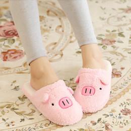 полы Скидка 2018 New Lovely Women Flip Flop Cute Pig Shape Home Floor Soft Stripe Slippers Female Shoes Girls Winter Spring Warm Shoes