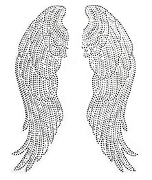 Transferências de diamante para asas on-line-Grande Anjo Asas Pares de Ferro em Hot Fix Rhinestone Transfer Bling Motivo Diamante Applique para Artesanato Sacos de Roupas Decoeated 1 par
