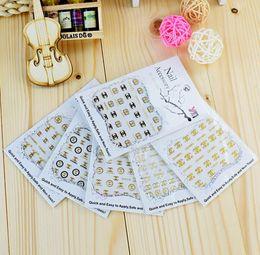 artes do logotipo Desconto Logotipo DIY 3D Etiqueta Do Prego Auto-adesivo DIY Adesivos Decalques Dicas Manicure Nail Art Decalques Nail Stickers Manicure DIY Art Adesivo LJJK1636
