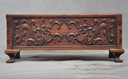 Caixa de jóias de madeira esculpida on-line-natal Um chinês Palace huanghuali caixas de armazenamento de escultura em madeira dragão estátua Jewelry Box do dia das bruxas