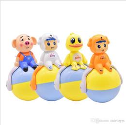 bonecas de arte de pano Desconto Loja bonita 2018 novo brinquedos Do Bebê de indução acustogão tumbler crianças brinquedos de plástico bonito tumbler novidade brinquedo de natal com música led