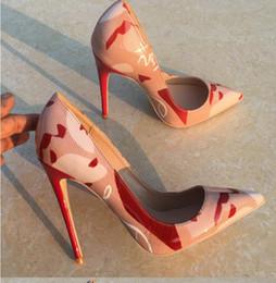 Zapatos formales blancos de las mujeres online-blanco Mujer Tacones de fondo rojos OL Zapatos de tacón alto Boda Fiesta de noche Zapatos de vestir formales Tacones de aguja sexy Bombas para mujer Talla 43