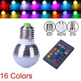 Canada 16 couleurs changeables RVB magie 3W LED ampoule de projecteur E27 B22 E14 GU10 85-265V 110V 220V Led lumière Spotlight + télécommande IR Offre