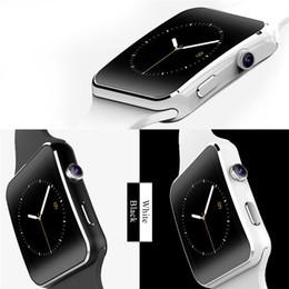 новые умные часы sim Скидка Новые Bluetooth Smart Watch X6 Smartwatch Спортивные часы 1.54
