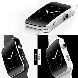 "Reloj teléfono inteligente 1.54 online-Nuevo Bluetooth Smart Watch X6 Smartwatch Sport Watch 1.54 ""Reloj de pantalla curvado Soporte Cámara Tarjeta SIM para teléfono Android"
