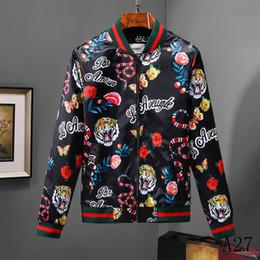 куртка кожа тигра Скидка 2018 роскошный дизайнер повседневная открытый Тигр джунгли куртка Осень Лето Мужчины Женщины роскошные молнии Спорт кожа пальто размер M-3XL