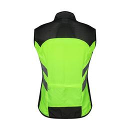 uniformes de segurança Desconto Ciclismo bicicleta reflexiva Vest bicicleta roupas de segurança à prova de vento de advertência de alta visibilidade Jacket Colete Equipe Uniforme equitação Vest