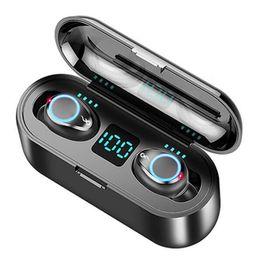 fone de ouvido bluetooth oppo Desconto Hot F9 Mini Wireless Headset Bluetooth Sports 5.0 TWS Headphones HIFI In-Ear Headphones executando Para Iphone Samsung Huawei