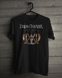 2019 logotipos de sonhos New Dream Theatre banda de Metal Logotipo Preto T-Shirt de Algodão Tamanho Dos Homens S-5XLFunny frete grátis Unisex presente Ocasional logotipos de sonhos barato