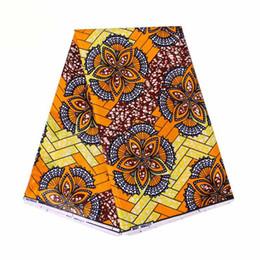 африканская кружевная фиолетовая органза Скидка Африканская Ткань 100% Хлопок Африканская Ткань Воск Голландский Стиль Настоящий Голландский бинта настоящий Воск Hollandais Бабочка Печатный Анкара Ткань 6 Ярдов