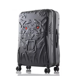 3d fall tiger Rabatt Die kühlenden Rollmänner der Marke 3D des Rollers des Tigers tragen Frauen mit, die Luxusart und weisegepäck des PC-Koffers einsteigen