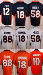 302a2e9356fef Juego de hombre Jersey Denver 18 Peyton Manning 58 Von Miller Broncos   10  Emmanuel Sanders   12 Paxton Lynch 88 Demaryius Thomas Orange denver bronco  ...