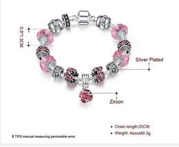 2019 bracelet style pandora en gros En gros De Luxe Style Charme Bracelet Coloré Charme Charmant Chamilia Perles Bracelets avec Pandora Pour Femmes Mode Brins Jewelr bracelet style pandora en gros pas cher