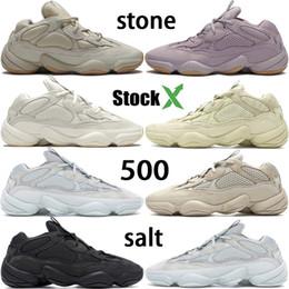 Désert Rat 500 vision douce kanye pierre hommes de l ouest des chaussures de course os blanc sel noir utilitaires 3M formateurs concepteur femmes