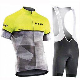 Kits de jersey de ciclismo profissional on-line-NW Homens new Ciclismo Jersey Bib Shorts pro equipe Ciclismo Set Respirável Quick dry Homens Ciclismo Jersey Kits maillots ciclismo hombre