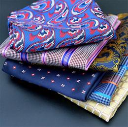 legno di spilla all'ingrosso Sconti Moda Uomo Affari Tasche tasca Hankies Hanky Fazzoletto Accessorio grande Cravatte Cravatta Asciugamano quadrato Tovagliolo Fazzoletto da taschino