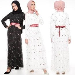 Argentina Venta al por mayor de gama alta 2018 Nuevo modelo de moda étnica islámica ropa traje de noche bordado traje mujeres árabes vestido de fiesta musulmán Suministro