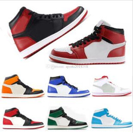 official photos 4351e a5694 Mens 1s top Pine Court Green Pourpre Chicago OG 1 Jeu Royal Bleu basket  chaussures Baskets sport baskets designer formateurs taille 5.5-12