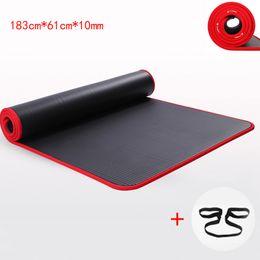 10 MM Ekstra Kalın Yüksek Kaliteli NRB kaymaz Yoga Paspaslar Spor Çevre Tatsız Pilates Için Gym Egzersiz Pedleri ile Bandaj nereden