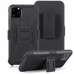 Iphone 5s holster online-Clip Gürtelholster Ständer Rüstungs-Kasten für iPhone 11 Pro Max XS Max XR X 8 7 6S 6 Plus 5 SE 5S