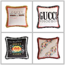 2019 sofá duplo Almofada de luxo travesseiro New espessura super macio de veludo de precisão dupla face padrão de proteção ambiental impressão sofá almofada fronha sofá duplo barato