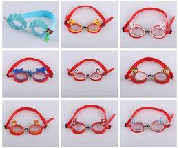 niedliche kinderbrillen Rabatt Mischen Sie 40 Farben Kinder Gläser Silikon Cute Fashion Cartoon Kinder Schwimmbrille Anti-Level-Licht Schwimmbrille