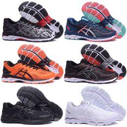marrone scarpe di moda Sconti HOT Fashion GEL-KAYANO 23 T646N Donna Uomo Scarpe da corsa Triple Nero Bianco Arancione Marrone Rosa Scarpe da uomo Donna Sneaker da ginnastica