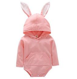 Deutschland Neugeborenes baby mädchen jungen kleidung strampler baumwolle langarm overall overall bunny outfits ein piecer 3d ohr kleidung supplier boy bunny romper Versorgung