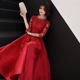 clothes married Coupons - Toast clothing Medium long section summer 2019 bride married new red was thin engagement wedding fashion evening dress qipao