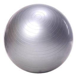 Palle di yoga gratuite online-All'ingrosso-Esercizio palla Yoga Ball Free Pump- Resistente allo scatto Palle fitness per Yoga Pilates Addominali e allenamenti core (grigio 65 Diametro)