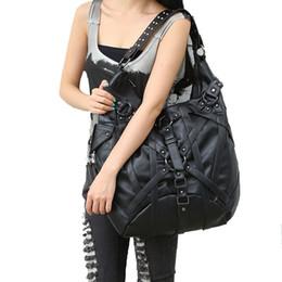 Grandi borse di roccia online-Steampunk Big Handbag Vintage Gothic Esclusivo Retro Rock Borse Borsa a tracolla in pelle Nuove borse moda Halloween