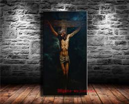 Pintura a óleo christ on-line-A Paixão de Jesus Cristo, Lona Pintura Sala de estar Decoração de Casa Moderna Mural Art Pintura A Óleo