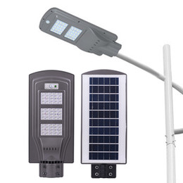 2020 sensore fotocellula di illuminazione Lampione stradale a LED 20W 40W 60W (Sensore radar + Sensore fotocellula) Lampade a led solari Lampade a LED industriali industriali impermeabili AC 85-265V sensore fotocellula di illuminazione economici